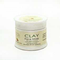 CLAY Face Mask with natural extract of CUCUMBER & GOTUKOLA / Anti-pigmentation/ Anti Marks with Skin Lightening