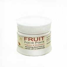 FRUIT Face Pack with natural extract of PAPAYA & STRAWBERRY/ Nourishing Glow Pack for velvety soft & radiant skin